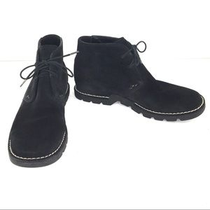 Cole Haan Black Suede Lace Up Chukka Desert Boots